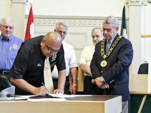Dover Medical Centre signing ceremony