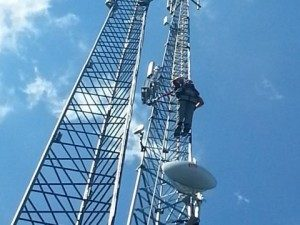 Silo wireless tower