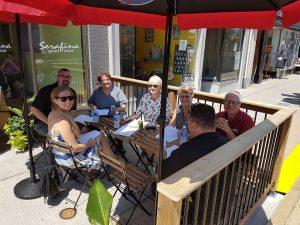Downtown Simcoe patio