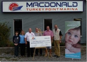 MacDonald marina cheque to London Children