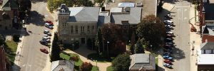 Governor Simcoe Square aerial view
