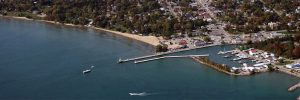 Port Dover harbour aerial view