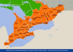 Fed Dev Ontario map